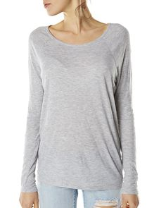 Inseption - Volcom - Womens - Lived In Rib L/S - Heather Grey