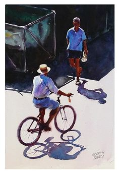 Graham Berry WATERCOLOR ... His human figures in the sun are always special .. I learn so much from him in my art journey.