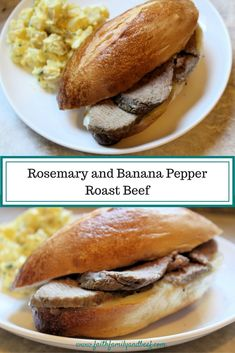 Rosemary and Banana Pepper Roast Beef