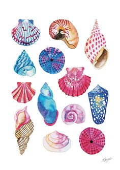 Digital print of my watercolor painting Magical shells from the Sea life collection.  -Printed on hight quality William Turner watercolor paper, 100% cotton. Very bright colors and image sharpness. With its matt watercolor texture this paper is a genuine mould-made paper in both look and feel. -DINa4 21 x 29.7cm (11.7 x 8.3 inches). -Hand signed  -Made with ♡  -Ideal for framing. Give a magical sailor touch to your home!  -Shipping from Barcelona  Tània Garcia © all rights reserved copyright…