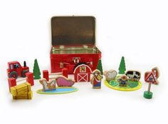 Wooden Farm Set in Tin Case  #entropywishlist #pintowin - This is a great travel ready toy! We would love it please -