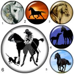 "Horse snap button charms ""20mm 4 Pack"" interchangeable with Noosa & Ginger snap jewelry. $4.00 each & sold in a 4 pack"