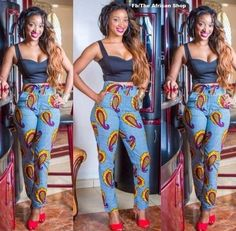 Love that high waisted pants IloveAfricanFashion Mystyle