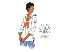 Vintage 70's Hooded or Sailor Collar Tops by allsfairyvintage, $5.00 Simplicity Sewing Patterns, Vintage Sewing Patterns, Sailor Collar, Collar Top, More Cute, Vintage 70s, Drawstring Waist, Hoods, Stripes