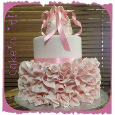 Ballerina cake, tutu cake, ballet shoes, birthday cake two tier homemade