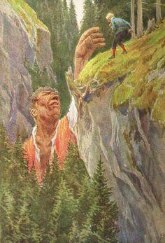 Illustration zu Hauffs Märchen - von Professor Paul Hey, Maler, Grafiker und Illustrator (19.10.1867 in München - 14.10.1952 Gauting)