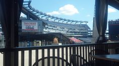 Our view of Gillette Stadium from the Patio at Tastings!
