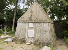A True Story in Stone: Burton Mausoleum.  Sir Richard and Lady Isabel (Arundult) Burton.  Burton Mausoleum at St Magdalen's Churchyard Cemetery, Mortake, London