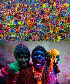 Hindu people celebrate the existence of color within a festival named Holi, that associate color with the triumph of good over evil.