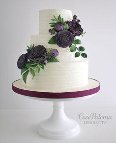 Featured Wedding Cake:Coco Paloma Desserts;www.cocopalomadesserts.com; Wedding cake idea.