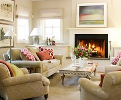 Neutral Living Room Decor Ideas – Home Exsplore Cream Living Rooms, My Living Room, Home And Living, Living Room Decor, Living Spaces, Cozy Living, Living Room Inspiration, Decoration, Family Room