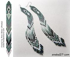 scheme earrings beaded mosaic brick seed bead earrings pattern
