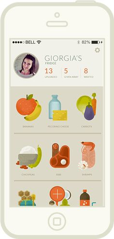 Ratatouille App on iphone: Ratatouille helps you find someone who'll be happy to take your extra food. Share your fridge with others, find what you need or give away what you don't need. No waste, no stress.