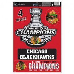 Chicago Blackhawks Decal 11x17 Multi Use 2015 Champs Design