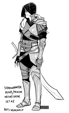 Shadowhunter concept Gear. Heavy/Medium Weight Gear Set #2 Anti-Werewolf. Lightweight Training Gear Set #3 by Cassandra Jean (SHADOWHUNTERS)