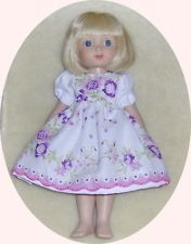 """Hand Stitched Cotton Hanky Dress fits 10"""" Ann Estelle~McCall Dolls by Tonner"""