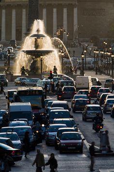 trafic paris | Row over traffic curbs in polluted Paris - Telegraph