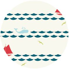 Jay-Cyn Designs for Birch Fabrics Organic, Set Sail, Set Sail Cream