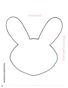bunny-head-outline-clipart-1.jpg (2400×3300) | school | Pinterest ...
