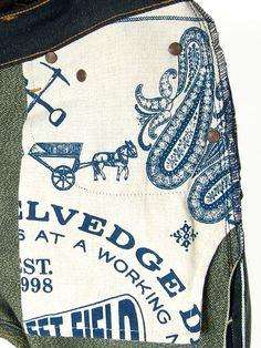 Left Field NYC — Cone White Oak Green Heather Fill Chelsea Jeans Denim Shirt With Jeans, Denim Ideas, Blue Bloods, Men's Fashion, Love Blue, Denim Fabric, Hang Tags, Vintage Denim, Fashion Branding