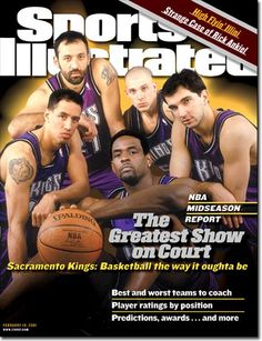 Sacramento Kings 2001 : Doug Christie #13, Vlade Divac #21, Chris Webber #4, Jason Williams #55, Peja Stojakovic #16....I loved this team backnin the day