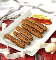 Salchichas vegetarianas. Receta de botana