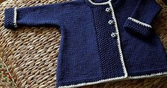 Sweet Navy Sweater  This Knit pattern / tutorial is available for free...  Full post:  Sweet Navy Sweater