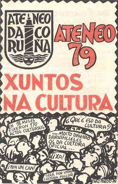 Xuntos na cultura / Ateneo 79 ; [deseño], Díaz-Pardo, 79. -- [A Coruña] : Ateneo da Coruña, D.L. 1979. -- [4] p. : il. ; 21 cm. 1. Ateneo da Coruña