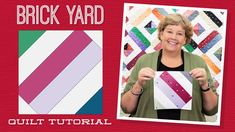 """Make a """"Brick Yard"""" Quilt with Jenny Doan of Missouri Star (Video Tutorial) Jenny Doan Tutorials, Msqc Tutorials, Quilting Tutorials, Quilting Ideas, Quilting Blogs, Quilting Projects, Hans Moser, Missouri Quilt Tutorials, Brick Yard"""