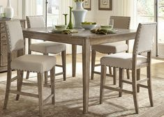 Vendor 5349 Weatherford Rustic Casual 5 Piece Gathering Table Set - Becker Furniture World - Dining 5 Piece Set Twin Cities, Minneapolis, St. Paul, Minnesota