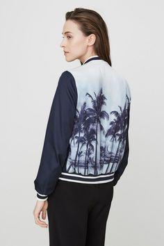 bomberjack met palmbomen op de achterzijde