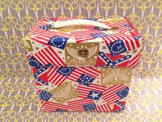 """7"""" Vinyl Record storage box 45RPM case tote American Flag Historical Flags History state"""