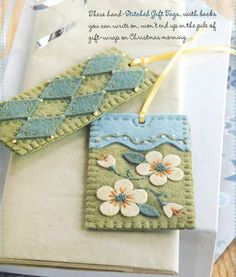 Homemade tags...These would be great for bookmarks or gift tags.