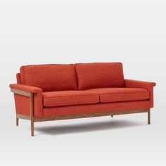 Leon Wood Frame Loveseat #westelm
