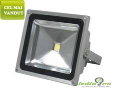 Proiector cu LED 50W de  exterior IP65 50W alb rece Led Flood Lights, Glass, Exterior, Led Projector, Drinkware, Corning Glass, Outdoor Rooms, Yuri, Tumbler