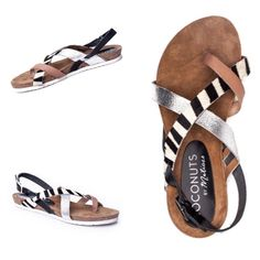 ➡️NWT Matisse Tri-Color Leather Jones Sandals⬅️ Zebra-printed calf hair adds panache to this strappy style. Leather and calf hair upper. Open toe. Adjustable buckle closure. Leather lining. TPR sole. Padded insole. So cute, durable and comfy. Brand new and current style. Matisse Shoes Sandals