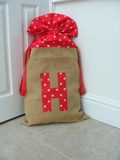 Personalised Christmas Sack by melaniesnest on Etsy, £25.00