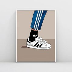 49 ideas sneakers illustration adidas for 2019 Adidas Superstar, Forrest Gump, Art And Illustration, Cool Artwork, Artwork Prints, Sneaker Posters, Sneaker Art, Pop Culture Art, Sneakers