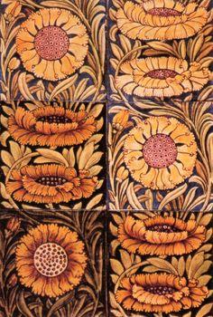 'Sunflower Tiles' - William de Morgan.