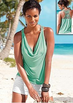 Sleeveless Tops - Halter, Cami, Tank, One Shoulder Styles & More