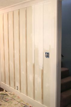 Whole wall board and batten wall treatment                                                                                                                                                     More
