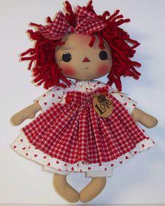 . Apple Dolls, Raggy Dolls, Ann Doll, Gothic Dolls, Raggedy Ann And Andy, Old Dolls, Crochet For Kids, Fabric Dolls, Doll Face