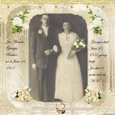 Just the photo but great wedding scrapbook page idea