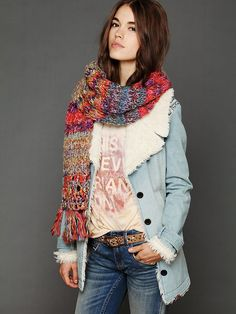 Free People Forester Scarf at Free People Clothing Boutique
