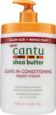 Cantu Leave In Conditioning Repair Cream provides intense moisture for softer more manageable hair.