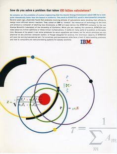 IBM Ad Agency: Benton Bowles Designed by Matthew Leibowitz See more IBM Ads here Vintage Graphic Design, Graphic Design Typography, Branding Design, International Typographic Style, Circle Game, Computer Basics, Vintage Typography, Packaging, Grafik Design