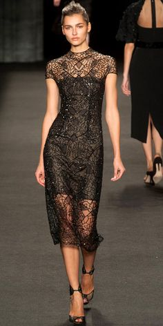 Runway Looks We Love: Monique Lhuillier - Monique Lhuillier from #InStyle