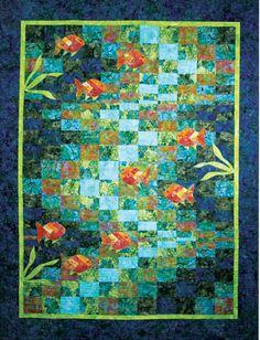 Hoffman Bali Batik Molokini Bay Quilt 62x76