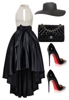 A fashion look from May 2015 featuring long high low skirt, black patent pumps and multicolor handbags. Browse and shop related looks. Classy Outfits, Stylish Outfits, Beautiful Outfits, Kpop Fashion Outfits, Fashion Dresses, Womens Fashion, Fashion Trends, Looks Chic, Complete Outfits