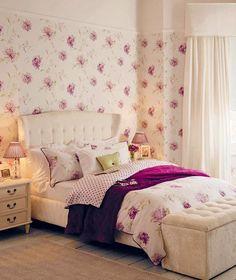 roxo na decoração do quarto